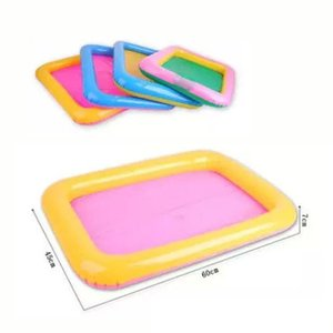 Indoor Magic Play Sand Children Toys Mars Space Inflatable Sand Tray Accessories Plastic Mobile Table Random Color