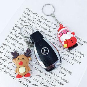 New Creative Silicone PVC key chain pendant small cartoon Christmas gift bag ornaments custom car keychains