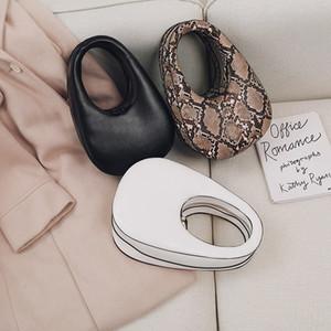 Bayan Moda PU Deri Çanta Oval Yumurta Shape Çanta Mini El Çantaları Küçük Crossbody Çanta Yılan Kadın Çanta