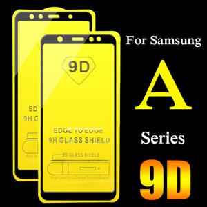 9D verre de protection pour Samsung Galaxy A6 A7 A8 2018 A3 A5 plus 2017 Protecteur d'écran pleine couverture en verre trempé