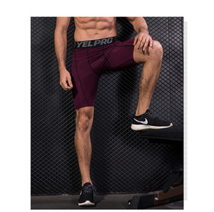 new Fitness Summer Double Mens Shorts Fitness Bodybuilding Breathable Quick Drying Short Gyms Men Casual Joggers Knee Length Pants