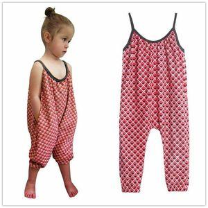 2019 2020 bebé chica de moda los pantalones sin mangas del mono del mono del verano de los niños