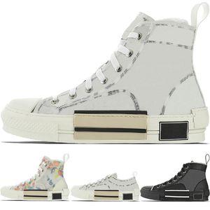 Nova Alta Top Flores Técnico B23 Mens Designer Womens Moda Sneaker Luxo B22 B23 B24 Oblique transparentes CD Branco Preto Sapatos casuais