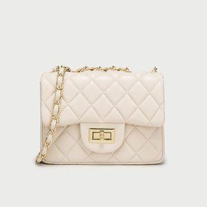 señoras del diseñador bolso de diseño Bolso blanco nueva bolsa de mensajero de cadena rombo señoras del bolso de hombro pequeño fragancia