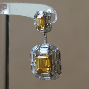 Moda- Mujeres Silver Love Dangle for Crystal Color Color Antiguo Drop Rhinestone Lock Pendientes Pendientes Mujeres CZ Rosa Joyería SJJQP