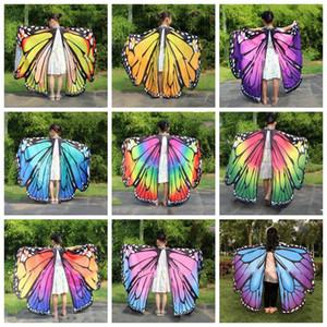 Lustige Halloween-Schmetterlings-Flügel Lustige Artificial Erwachsene Kind Flügel Cosplay Spielzeug-Tanz-Performance-Kostüm-Frauen-Schal-Party Supplies WY531Q