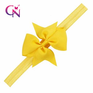 6 inch Big Hair Bow baby girls Boutique Solid Hairgrips Grosgrain Ribbon Bows With Headband Barrette Bowknot For Girls Baby Hair Accessories