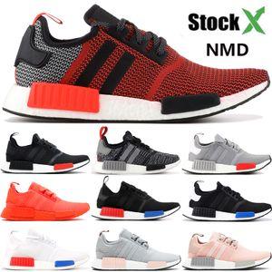 mens New NMD R1 tênis exuberante luz vermelha Onix Europa exclusivo Tactile tripla verde preto homens brancos as sapatilhas das mulheres estilista ao ar livre