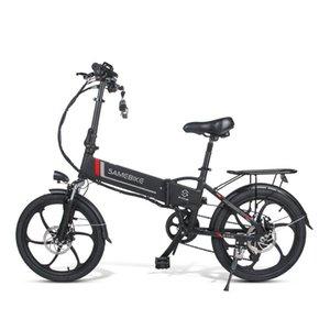 US Smart Electric Vélo Samedike 20LVXD30 Deux roues Vélo électriques 48V 10.4Ah Vélo électrique pliable avec batterie amovible Noir