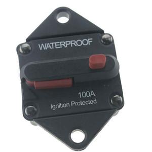 100A Truck Yacht Marine RV Inversor a prueba de agua Interruptor de circuito fusible inversor con botón de reinicio manual del coche