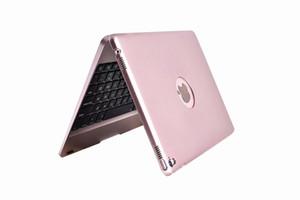 아이 패드 프로 9.7inch 무선 키보드의 경우 커버 플립 로고 구멍 단단한 케이스를 들어 아이 패드 Air1 2 Pro9.7inch 블루투스 키보드 스마트 수호자의 X1을 ABS