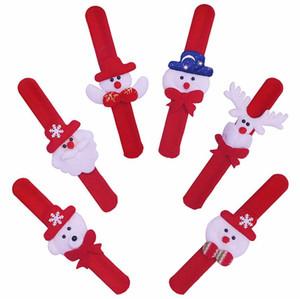 Regalo dei bambini di Natale di natale Patting Toy Circle Bracelet Watch Babbo Natale del pupazzo di neve dei cervi partito di nuovo anno giocattolo polso trasporto libero della decorazione