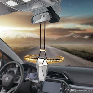 Voiture Pendentif en alliage de zinc OX Corne Rearview Mirror Décoration Auto Bull Hanging Automobiles Ornement Intérieur Accessoires cadeaux Décoration d'intérieur