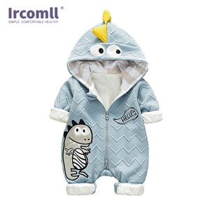 Infant Baby Romper Hooded Cartoon Dinosaurs Kid Jumpsuit Goys Clothes Long sleeve Baby Rompers Overalls of Toddler body suit