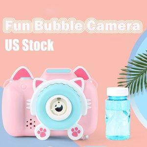미국 주식 어린이 매직 음악 카메라 버블 장난감 귀여운 자동 거품 송풍기 기계 완구 키즈 거품 카메라 장난감 아기 SPIELZEUG
