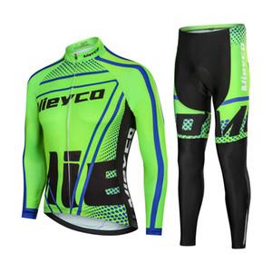 VTT Homme Maillot cyclisme Set vélo Sport manteau de cyclisme uniforme avec des collants Pantalons Manches longues Quick Dry Racing Vêtements vélo