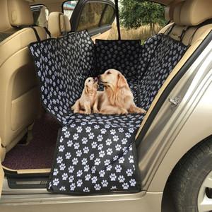 Pet Carriers Oxford-Gewebe-Muster Auto Haustier-Sitzabdeckung Hund Auto-Rücksitzträger Wasserdichte Matten Hammock-Kissen-Schutz
