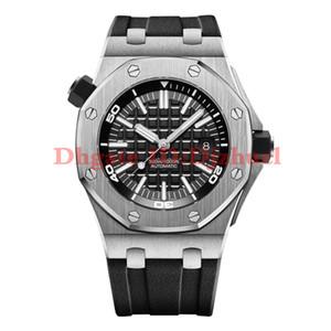2021-New Relojes para hombre Movimiento automático de calidad superior 43 mm Strap de caucho Relojes para hombre Envío gratis Orologio di Lusso Montre de Luxe