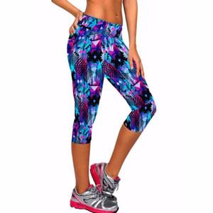 8 couleur pantalons capri pantalon de yoga de sport entraînement fitness leggings femmes collants de course pantalon de jogging Skinny Stretch équipée