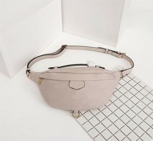 calientes de las mujeres bolsos de la señora cintura empaqueta monederos unisex Bumbag pecho Bolsa Cruz Cuerpo cintura empaqueta genuino cuero Bolsa de hombro M44812