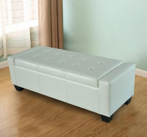 Home Modern Ottoman Storage Bench Seat Footrest Sofa Shoe Faux Leather