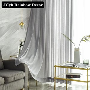 Cortina Tulle Super macio moderno para sala de estar quarto Twig Voile cortinas para janela Blinds Home Decor Tratamento