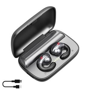 TWS 5.0 무선 블루투스 이어폰 F9 헤드셋 매달려 귀 골전도 Biaural 이어폰 Heaadphone HD 전화 2200mAh