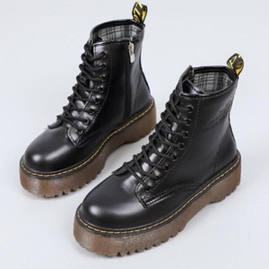 Martin shoes new side zipper British style retro black motorcycle boots students thick bottom casual autumn winter Martin shoes V62
