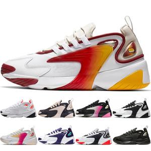 Nike Tekno 2K M2K Zoom Erkekler Yakınlaştırma M2K 2K Kırmızı Işık Orewood ZM 2000 90'lar tarzı Eğitmenler Tasarımcı Üçlü Siyah Gri Kızılötesi Hiper Crimson Sneakers Ayakkabı Koşu