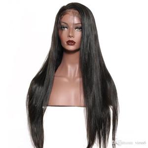 360 полных кружева фронтальные волосы волосы парики перуанские прямые волосы натуральный цвет предварительно сорванные кружева передние парики с детскими волосами хорошее качество Remy парик