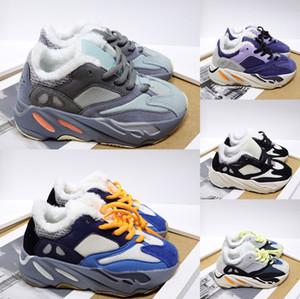 Inverno Neve Kids Shoes Kanye West V2 corredor da onda 700 menina correndo Calçados 500 da criança do bebê instrutor Boy Sneakers crianças Athletic Shoes