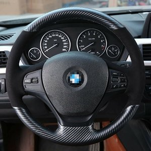 Hand sewing Top Leather Carbon Fiber Steering Wheel Cover For BMW F20 F30