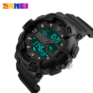 Skmei Men Outdoor Sports Watches Chronograph Fashion Multifunction Watch Waterproof Digital Wristwatches Relogio Masculino 1189 Y19052103