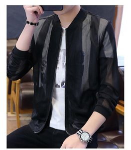 Indumenti di protezione casual Griglia Stripe Panelled Mens cappotti Hommes Jacket Mans Designer moda giacche Stripes Sun