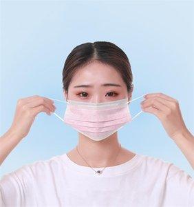 Andrtificationprotective descartável FaMasks cara 3 Mask rosa Ply Non Woven Dusk 2 Face Rosa Ply FaShield Cpr Boca Polution