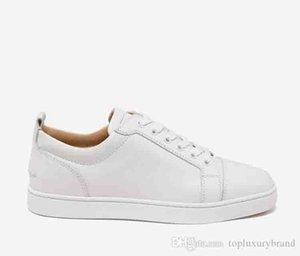 Pas cher pas cher pas cher Rouge Bas Sneaker junior Low Top Blanc Chaussures en cuir véritable clouté Stuff Baskets homme robe de soirée de mariage [avec la boîte]