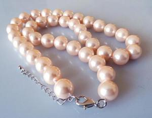 MS 10 MM Rosa Moda Colar -FEF whosale Genuína jóias de prata Casamento