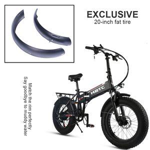 20inch Snowboard bicicletta elettrica pieghevole speciale parafango Fat Tire robusto acciaio inox tuta parafango speciale