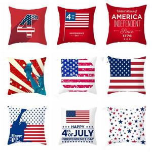 Temmuz Yastık Kılıfı Bağımsızlık Günü Yastık 4. Amerika Bayrağı Koltuk Yastık Kapak Çizgili Yıldız Baskılı pillowslip Dekoratif CZYQ5352 Kapaklar