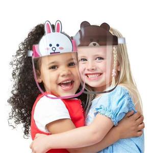 Bouclier enfants Cartoon visage sécurité Chidren Masque de protection Couverture anti-buée anti-UV Transpartent Masque facial Pour Garçons Filles