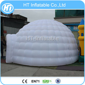 Portable e temporaneo LED Dome Grande 7m Dia gonfiabile Bianco Igloo tenda Air tenda gonfiabile rotonda Tenda igloo di trasporto