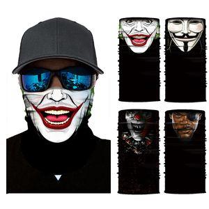5-piece printed clown riding sports sunscreen versatile seamless headscarf face mask Bib mask