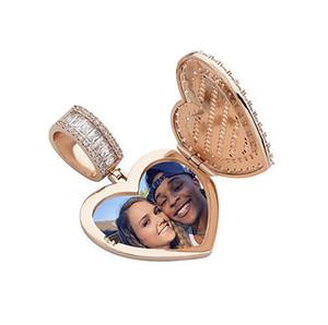Nach Maß Foto Anhänger Gold-Silber-Herz-hängende Halskette für Männer Frauen Geschenke Hiphop Schmuck