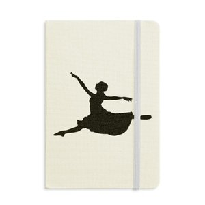 Ballet Jumping Performance Dancer Notebook Fabric Hard Cover Classic Journal Diary A5