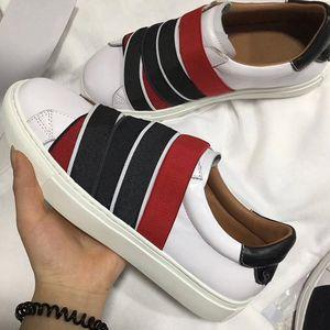 أحذية الرجال قليلة قص 4G حزام حذاء من الجلد للمرأة عقدة توقيع المدربين الجلود باريس أربطة مرنة رياضة الدانتيل متابعة أولي EU45