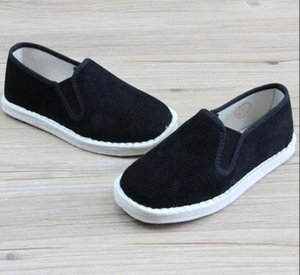 unisex handmade cloth cotton children martial arts wushu sneakers kids shoes tai chi shoes black