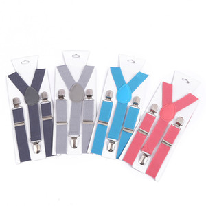 Candy Color Children Suspenders Elastic Boys Girls Straps Kids Y Back Adjustable Clothing Suspenders 28 colors HHA1283