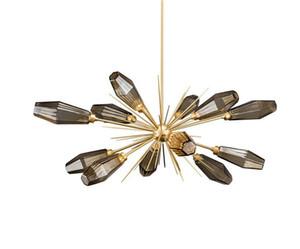 Nordic Glass Globe Led Chandelier E14 Lámpara colgante de iluminación Sala de estar Dormitorio Lustre Lámpara Iluminación interior Lamparas EMS LLFA