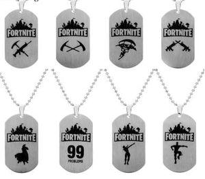 Tag Fortnite Pendant Colar de aço inoxidável Fortress Noite Colar impressão personalizada gravura jogo quente Fãs Souvenir Crianças Jóias