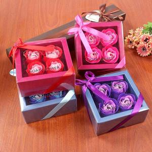 Neue künstliche Blumen Seifen-Blumen-40pcs = 10box Rosen Valentinstag Geschenk Hochzeit Geschenke für Gäste-Abschluss-Geschenk Wedding Supplies